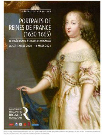 Exposition PORTRAITS DE REINES DE FRANCE Musée d'art Hyacinthe Rigaud du 26 septembre 2020 au 14 mars 2021